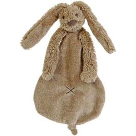 Happy horse konijn | Richie knuffeldoekje bruin