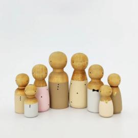 SPJ | houten pop man/jongen beige
