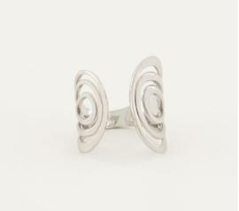 My Jewellery | Statement ring met boogjes zilver