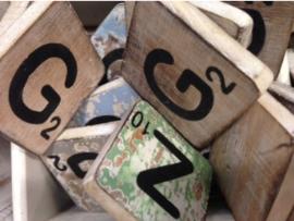 cottoncounts houten letter   Scrabble letter g