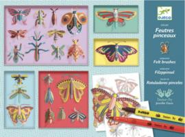 Djeco knutselen | kleuren met stiften insectenkast