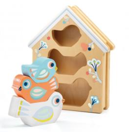 Djeco Baby White | Babybirdy puzzel