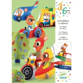 Djeco knutselen | kleuren vroemvroem
