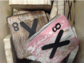 cottoncounts houten letter   Scrabble letter x