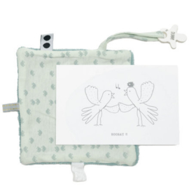 Snoozebaby kaart met cadeautje | Bird Gray Mist