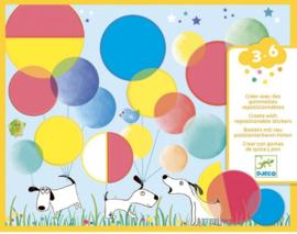 Djeco knutselen | stickers plakken cirkels