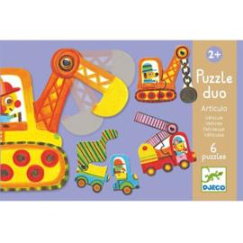 Djeco duo puzzel | bouwverkeer