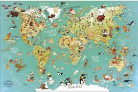 Vilac houten puzzel | magnetische wereldkaart