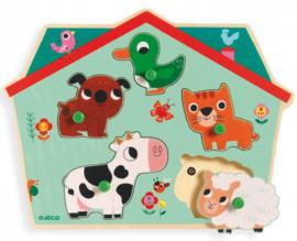 Djeco puzzel | inlegpuzzel met geluid