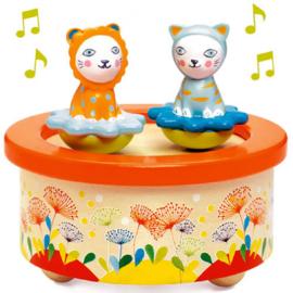 Djeco magnetische muziekdoos | poezen