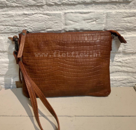 Bear Design clutch/schoudertasje | cognac