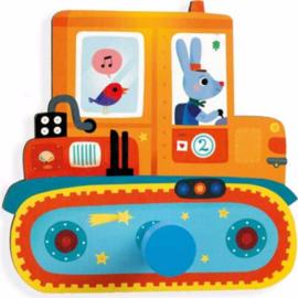 Djeco kapstok haak | bulldozer