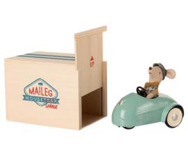 Maileg muis kleine broer | auto met garage