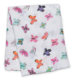 Lulujo swaddle 120 x 120 cm katoen | vlinders