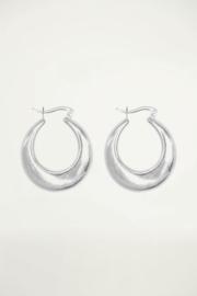 My Jewellery | grote oorringen 70's mat zilver