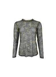 black colour shirt mesh | Florence army leo