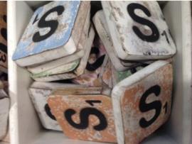 cottoncounts houten letter   Scrabble letter s