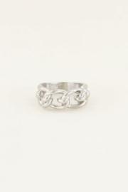 My Jewellery | verstelbare ring met schakels zilver