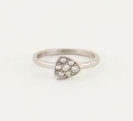 My Jewellery | Ring driehoek strass zilver