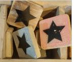 cottoncounts houten letter   symbool sterretje