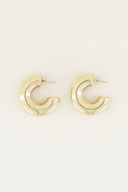 My Jewellery | oorhangers basic statement goud