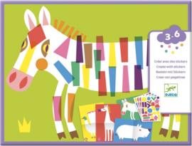 Djeco stickers   grote dieren maken