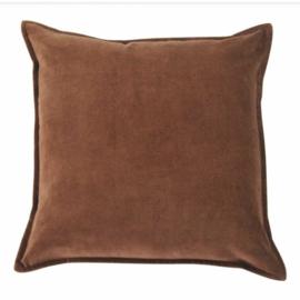 the go'round kussen 45 x45 | fluweel bruin