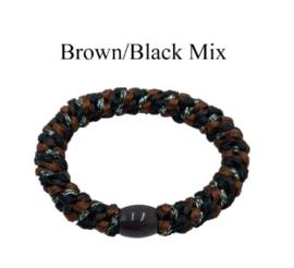 black colour elastiek | Kally elastic Brown/Black