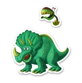 160 stickers dinosaures Djeco