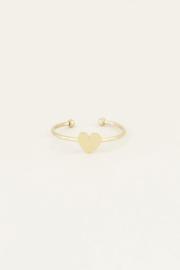 My Jewellery | verstelbare ring klein hartje goud