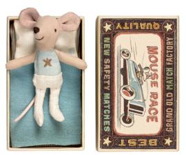 Maileg muis kleine broer in doosje