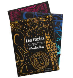 Moulin Roty knutselen | Kraskaarten Les cartes á gratter geel