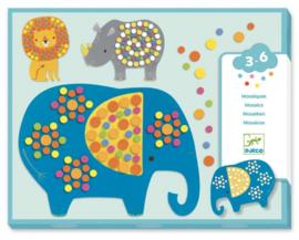 Djeco knutselen | mozaïek dieren soft jungle
