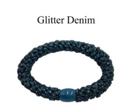 black colour elastiek | Kally elastic Glitter Denim