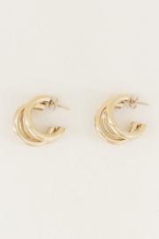 My Jewellery | ooringen driedubbel klein goud