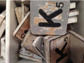 cottoncounts houten letter   Scrabble letter k