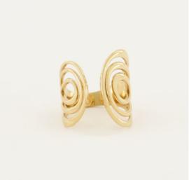 My Jewellery | Statement ring met boogjes goud