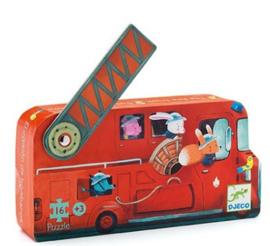 Djeco puzzel   brandweerauto