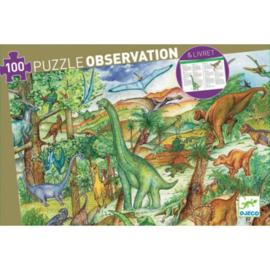 Djeco puzzel observation | dinosaurussen (100st)