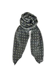 black colour sjaal | Bessie Grey