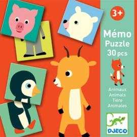 Djeco spel | memory puzzel dieren