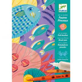 Djeco knutselen | kleuren op nummer onder water