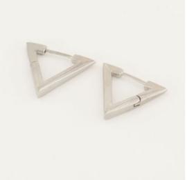 My Jewellery | oorbellen driehoek groot zilver
