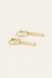 My Jewellery | oorringen amour bedel goud