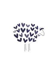 Kleinliefs, schaap met blauwe hartjes