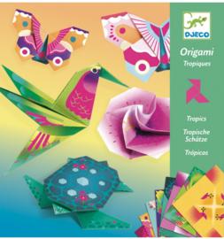 Djeco origami | tropische dieren en bloemen
