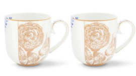 Pip Studio | Royal White mok set van 2 goud