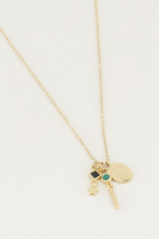 My Jewellery | ketting Black Onyx & Malachite goud