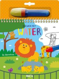 Kleuren met water: de dierentuin | karton