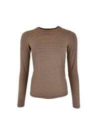 black colour T-shirt | Polly striped Navy